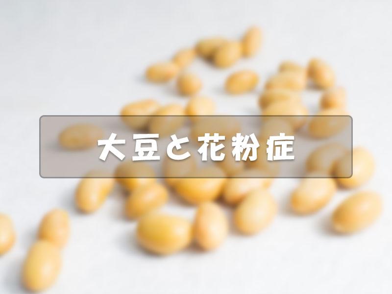 大豆と花粉症