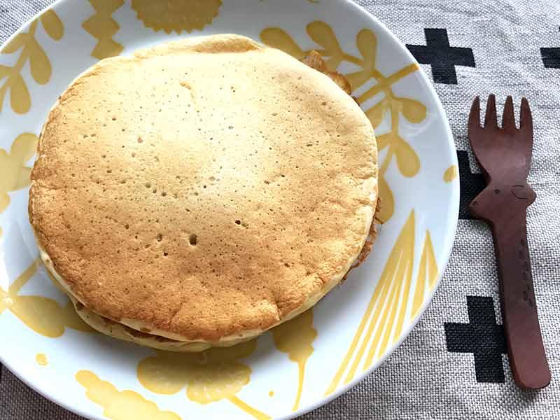 みかんの豆乳パンケーキ