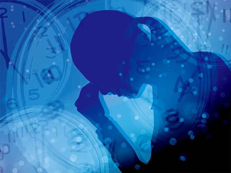 女の人と時間