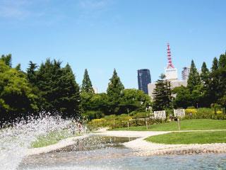噴水と公園