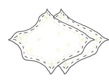 柔らかいベビーガーゼ(沐浴用ガーゼ)2枚
