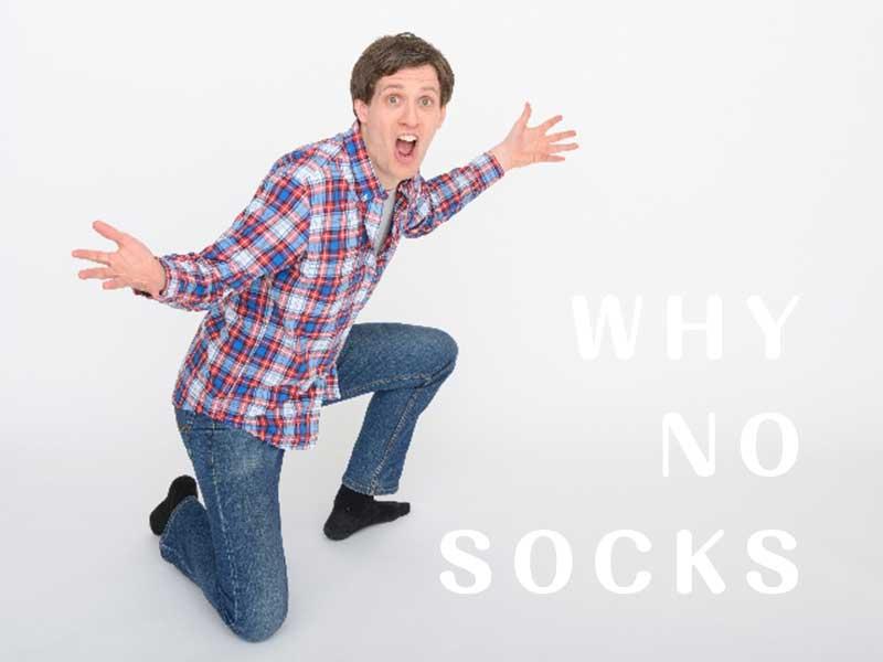 why no socksと言っている旦那さん