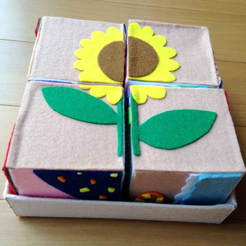 フェルト製の手作りパズル