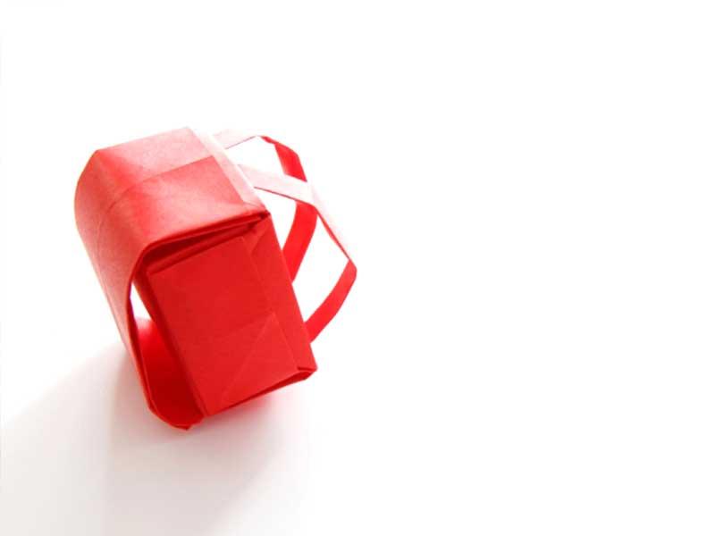赤いランドセル(折り紙)