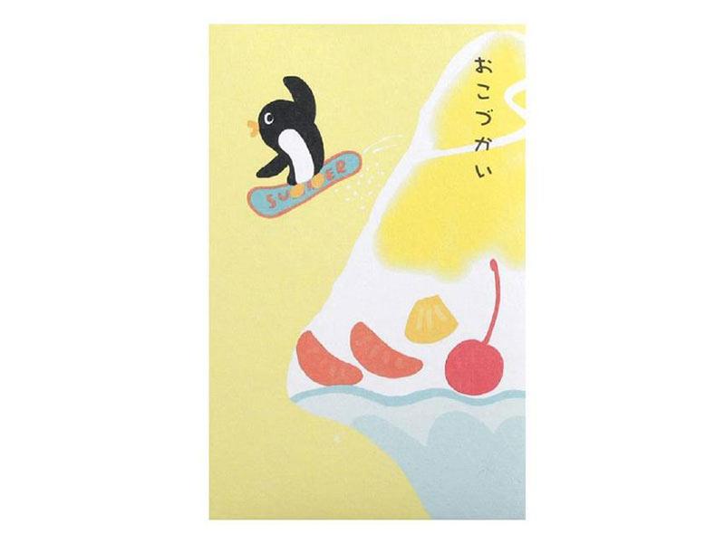 かき氷柄の和紙夏ぽち袋