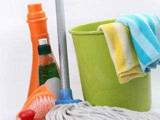 お風呂掃除の道具一式