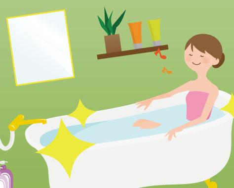 【お風呂掃除のコツ4】汚れ別そうじ方法で簡単!浴室ピッカピカ☆