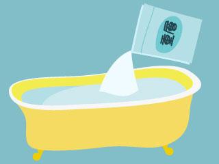 浴槽に重曹