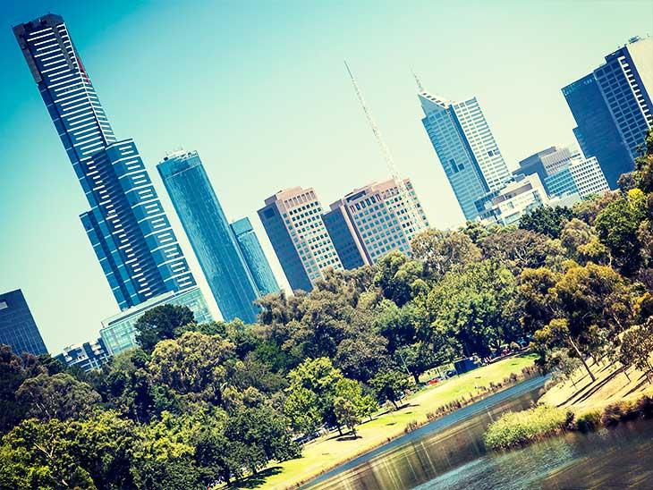 オーストラリアの街並み