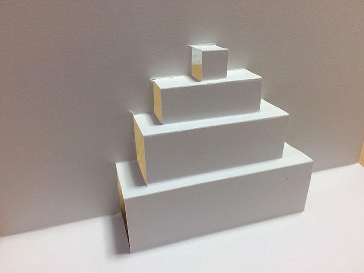 折込4段分の飛び出すケーキのベース紙
