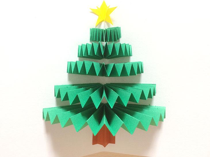 クリスマスツリーが飛び出す絵本の完成写真