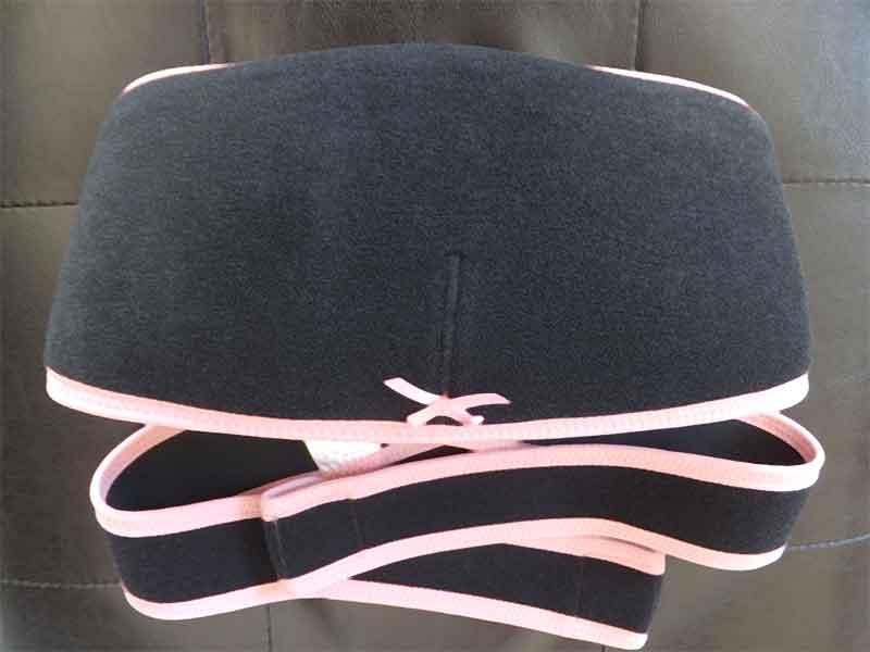 ピンクと黒の妊婦帯