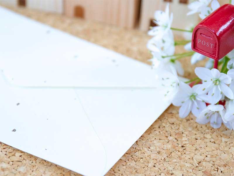 手紙と郵便ポスト