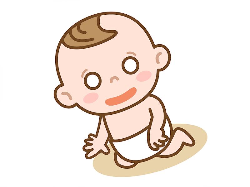 困った赤ちゃんのイラスト